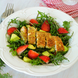 Almond Crusted Chicken with Strawberry Salad