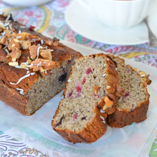 Banana Raspberry Chia Bread