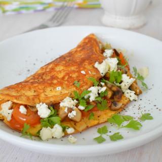 Feta and Mushroom Omelette