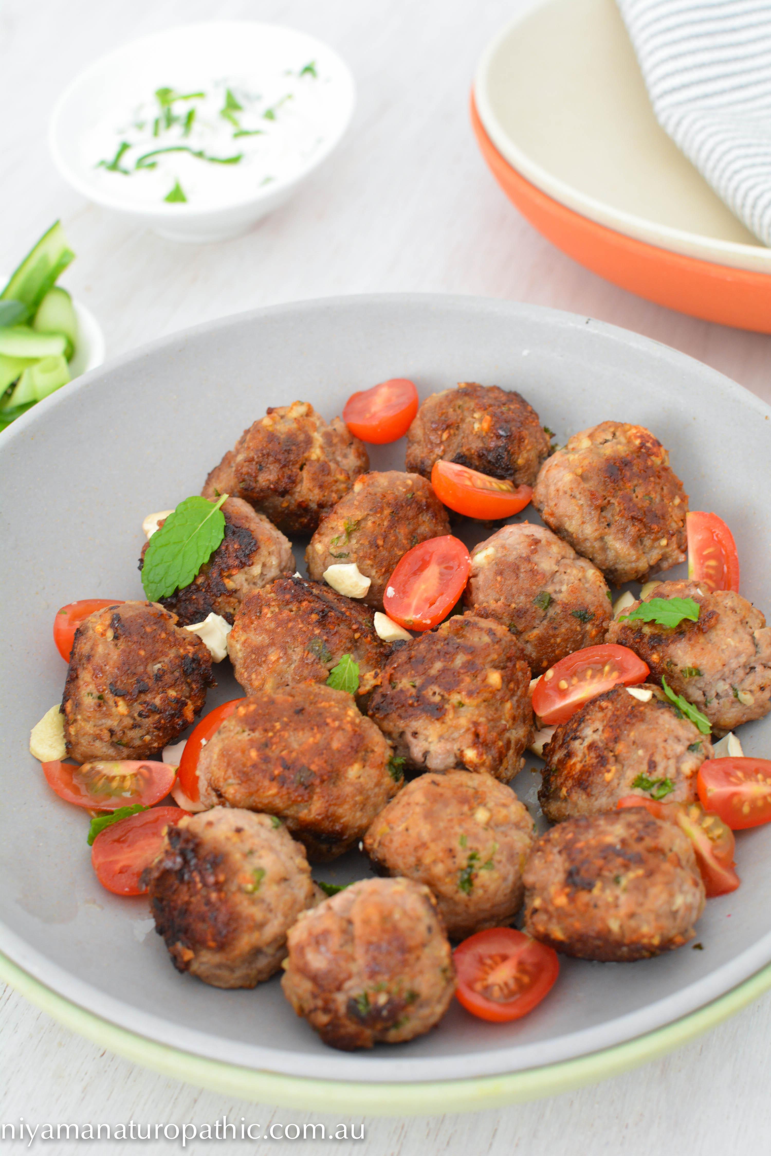 Lamb Cashew Feta Meatballs