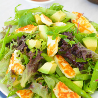 Halloumi Miso Salad