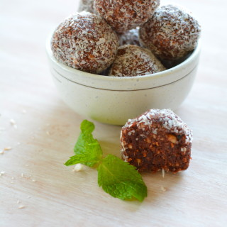 Raspberry Mint Bliss Balls
