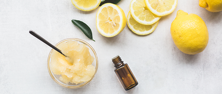 DIY Lemon Body Scrub