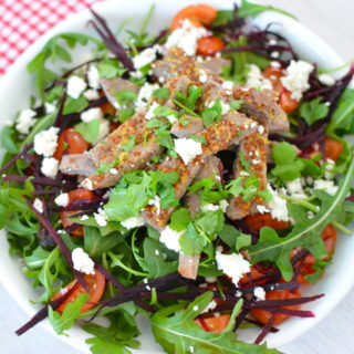 Steak Skirt with Rocket & Feta Salad