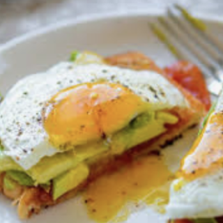 Fried Egg and Avo on Paleo Bread