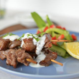 Lamb Kebabs with Minted Yoghurt