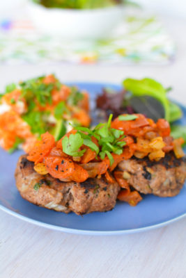 Beef Rissoles with Sweet Potato Salad Recipe