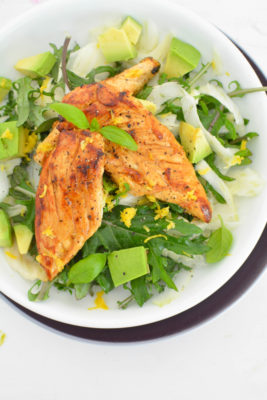 Lemon chicken with fennel salad recipe